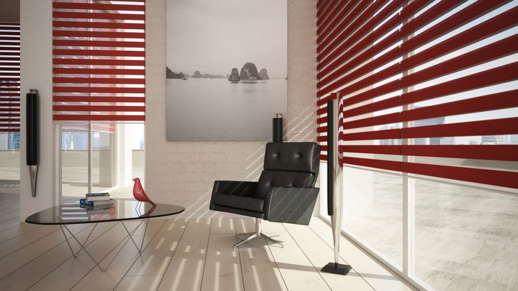 red vision blinds day and night zebra